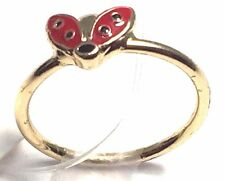 Fashion Costume Jewelry Mid Rings Knuckle Rings Size 4 Gold Metal Lady Bug NEW