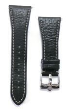 Glam Rock Black Leather Watch Strap with Buckle NEW #33277