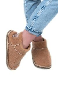 Womens Camel Wool Slippers House Boots Ladies Men Brown Warm Cozy