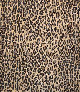 Vintage Ralph Lauren Aragon Leopard Print Queen Flat Sheet