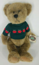NWT Ganz Cottage Collectibles Tyler teddy bear brown green apple sweater 1995