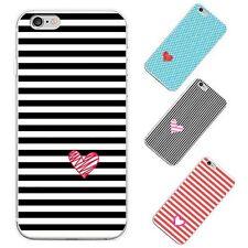 LOVE a rayas Impreso fundas para teléfono iPhone 6 7 Más Samsung Galaxy HÁBIL