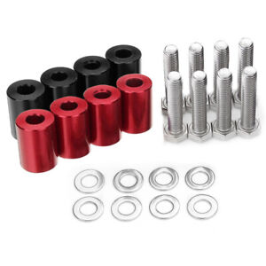 8mm Alloy Billet Hood Vent Spacer Riser Kit For Car Turbo Engine Swap Accessory