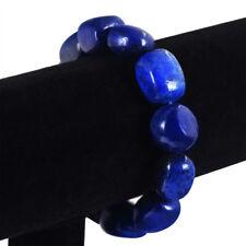 1PC Handmade Irregular Lapis Lazuli Bead Bracelet Stone Bangle Gifts 7.5 Inch