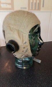 Ww2 raf aertex e type flying helmet,