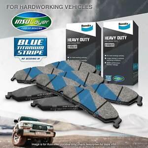 8pcs Front + Rear Bendix HD Brake Pads Set for Ford F250 F250 Aus F350