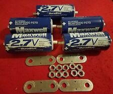 Lot of 5 Maxwell Ultra Capacitor 2.7V 3000F Farad with Hardware K2 2.7V Series