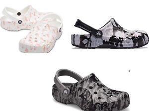 Women's CROCS Baya Clog Sandal Black, Grey, White, Flamingos, Flowers
