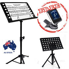 Chromatic Guitar Tuner Heavy Duty Music Sheet Stand Adjustable Folding