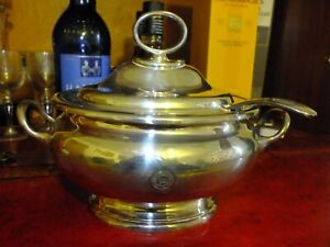 Atlantic Transport Line First Class Passenger Silver Plated Soup Tureen & Ladle