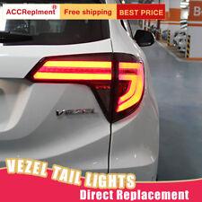 For Honda HR-V VEZEL LED Taillights Assembly Dark / Red LED Rear Lamps 2016-2018