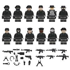 Minifiguren SWAT Team Polizei, LEGO® kompatibel, NEU