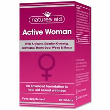 Natures Aid Active Woman with Arginine & Maca 60 Tabs