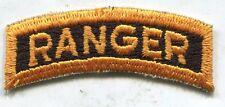 Early Vietnam Era US Army Yellow & Black Ranger Tab Patch Cut Edge