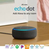 All New Echo Dot (3rd Gen) - Smart speaker with Alexa - Charcoal (B0792KTHKJ)