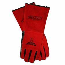 Longevity Welding Armor Stick Welding Gloves Red Leather