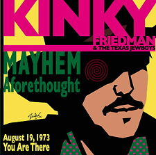 Kinky Friedman & The Texas Jewboys-Mayhem Aforethought 2005 Live CD - Americana