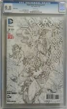 Superman Unchained #7 - Jim Lee Sketch Variant Cover 1:100 - CGC 9.8