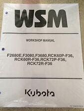 Kubota F2680 F3080 F3680 F 2680 3080 3680 front mower service & repair manual