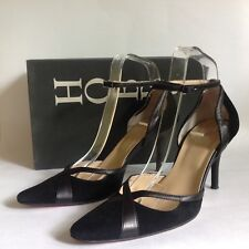 """Hobbs Kim Black Suede & Leather Mary Jane 3.5"""" Stiletto Shoes UK 5.5 And Box"""