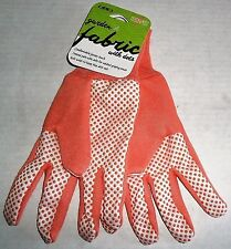 LADIES FABRIC GLOVES with Dots  by Mid West Glove Co.  Ladies   PEACH