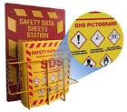 """Bilingual Right To Know Sds Center Wire Rack And 3"""" Binder With Ghs Pictograms"""
