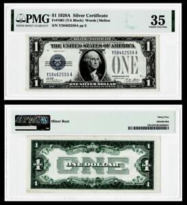1928-A $1 SILVER CERTIFICATE NOTE~~FR.#1601 (YA BLOCK) PMG VF35