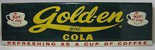 Orig 1950s Sun Drop Gold-en Girl Cola Sign metal door push Refreshing as Coffee