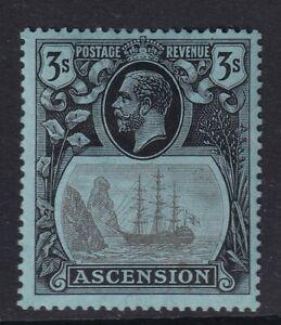 Ascension 3/- Grey Black & Black On Blue SG20 Mounted Mint