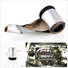 Car Truck Metallic Heat Shield Thermal Sleeve Insulated Cover Roll L*W 910*120mm