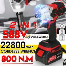 """588VF 800NM 1/2"""" Drive Chave De Impacto Elétrica Sem Fio Chocalho Porca 1/2"""