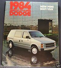1984 Dodge Mini Ram Van Truck Catalog Sales Brochure Royal Excellent Original 84