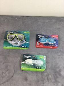 (3) speedo swim goggles - Preowned
