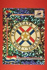 PANINI WC WM FRANCE 98 1998 N. 264 PARAGUAY BADGE WITH BLACK BACK MINT!!