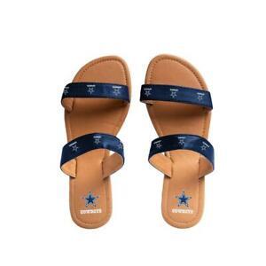 Dallas Cowboys NFL Women's Double Strap Flip-Flops, Size Small (5/6) - NWT