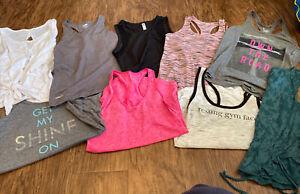 Women's Workout Tank Top Lot (9)~size XS/S~Nike, Danskin, old navy, tek gear