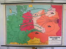 School Wall Map Map migration after 1945 displacement SMER 139x97c