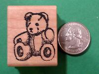 "Teddy Bear - ""Teddi"" - Wood Mounted Rubber Stamps"