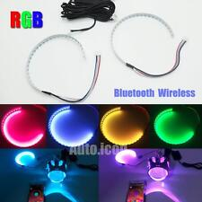 Wireless Control RGB LED Demon Eye Halo Ring Kit For HID Projector Lights Lens