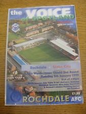 05/01/1999 Rochdale v Stoke City [Auto Windscreens Shield] .  Thanks for viewing