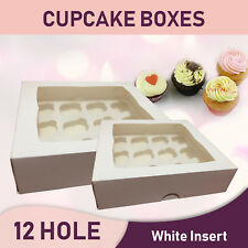 Cupcake Boxes White 20Pk 12Hole-Party Favour Boxes Wedding Bomboniere Decorating