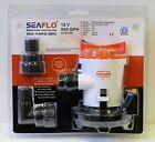 SEAFLO 12v 800GPH Cartridge Side Mount Submersible Bilge Pump 4 Year Warranty!