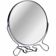 4 Inch Cosmetic Make Up Shaving Magnifying Round On Stand 2 Sided Mirrors, 10cm