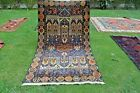 Vintage Beautiful Pictorial Tribal nomad Area Size Rug, Wall Hanging Tribal Rug