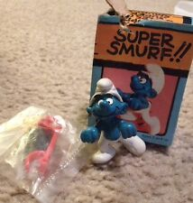 Super Smurf Red Scooter Rare Vintage Smurfs Figure Schlumpf Toy MIP 40230 4.0230