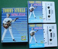 Tommy Steele Rebel Rock inc Singing the Blues + Cassette Tape x 2 Set - TESTED