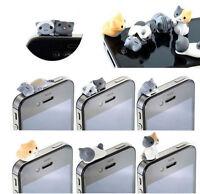 1x Cat 3.5mm Anti Dust Earphone Jack Plug Stopper Cap For Mobile phone Iphone JR