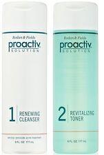 Proactiv 6oz DUO Renewing Cleanser & Revitalizing Toner 90 day 2pc Kit