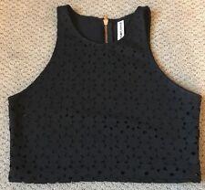 Bethany Mota Women's Juniors Aeropostale Black Crop Top Size Large