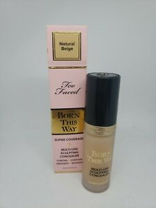 TOO FACED Born This Way Super Coverage Sculpting Concealer NATURAL BEIGE 0.5oz